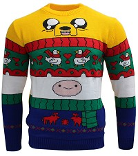 Adventure Time Finn & Jake Xmas Pullover (L) (Merchandise)