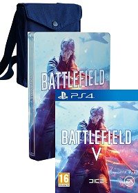 Battlefield 5 [AT Limited Steelbook Fan Bag uncut Edition] + 3 Preorder Boni (PS4)