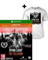 Dying Light Teil 1 + The Following [Enhanced AT uncut Edition] + T Shirt (L) + Kettensäge (Xbox One)