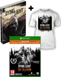 Dying Light: The Following Enhanced [AT D1 Bonus Steelbook uncut Edition] + T-Shirt (L) + Kettensäge (Xbox One)