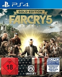 Far Cry 5 [Limited Gold USK uncut Edition] inkl. 10 Bonus DLCs + Far Cry 3 Remastered (PS4)