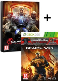 Gears of War: Judgment [Steelbook uncut Edition] inkl. Bonus DLC Doublepack & T-Shirt (Xbox360)
