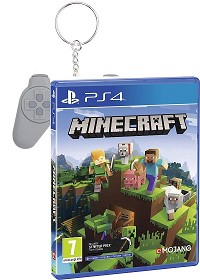 Minecraft Bedrock Edition + PSX Retro Keychain (D1 Edition) (PS4)