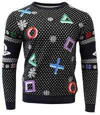 PlayStation Symbols Black Xmas Pullover (L) (Merchandise)