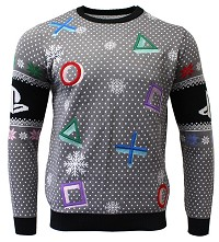 PlayStation Symbols Grey Xmas Pullover (M) (Merchandise)
