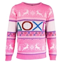 PlayStation Symbols Xmas Pullover Pink (XS) (Merchandise)