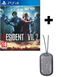 Resident Evil 2 Remake [uncut Edition] + Umbrella Dog Tag + 2 Bonus DLCs (PS4)
