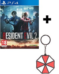 Resident Evil 2 Remake [uncut Edition] + Umbrella Keychain + 2 Bonus DLCs (PS4)