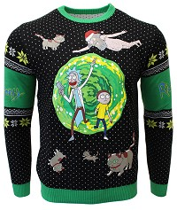 Rick & Morty Portal Xmas Pullover (M) (Merchandise)