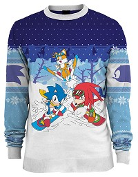 Sonic the Hedgehog Skiing Xmas Pullover (XL) (Merchandise)