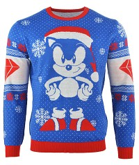 Sonic the Hedgehog Sonic Gem Xmas Pullover (L) (Merchandise)