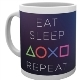 Sony PlayStation Eat Sleep Repeat Tasse