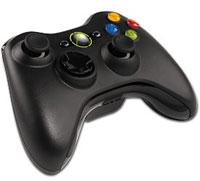 Xbox360 Black Wireless Controller (Xbox360)