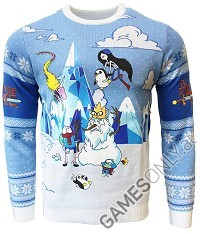 Adventure Time Festive Winter Xmas Pullover (XL) (Merchandise)