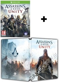 Assassins Creed 5: Unity [Limited Steelbook AT Bonus uncut Edition] inkl. DLC Doublepack (Xbox One)
