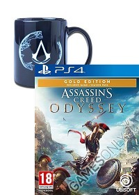 Assassins Creed: Odyssey [Gold uncut Edition] inkl. Preorder Bonus + Animus Crest Tasse (PS4)