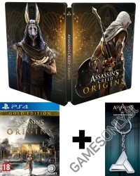 Assassins Creed: Origins Special Gold Edition [uncut] inkl. Bonusmission + Schlüsselanhänger (PS4)