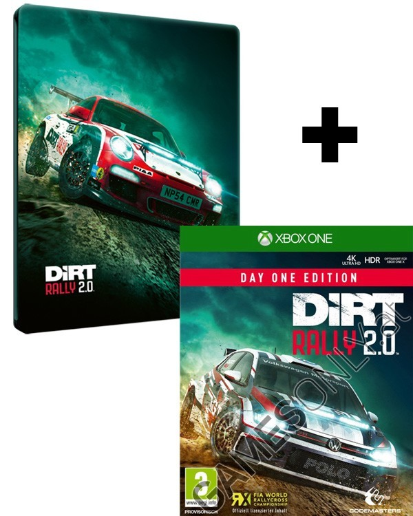 xbox one dirt rally 2 0 day one steelbook edition inkl. Black Bedroom Furniture Sets. Home Design Ideas