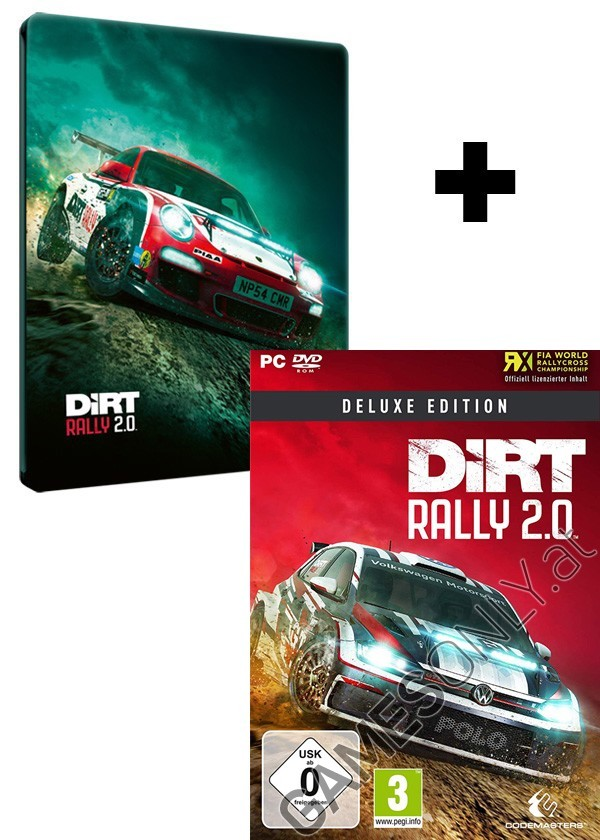pc dirt rally 2 0 deluxe steelbook edition inkl bonus. Black Bedroom Furniture Sets. Home Design Ideas