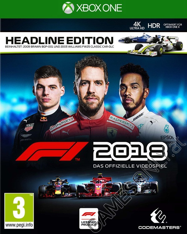 xbox one f1 formula 1 2018 headline edition. Black Bedroom Furniture Sets. Home Design Ideas