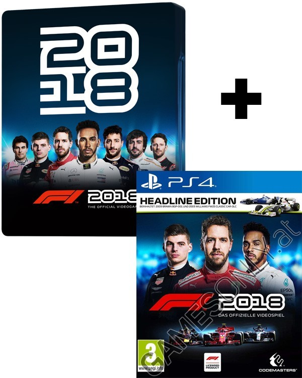 ps4 f1 formula 1 2018 steelbook headline edition. Black Bedroom Furniture Sets. Home Design Ideas