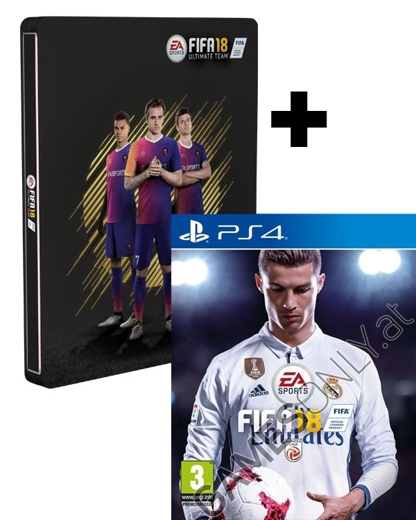 ps4 fifa 18 limited at pegi steelbook edition inkl 14. Black Bedroom Furniture Sets. Home Design Ideas