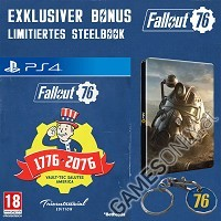 Fallout 76 [Limited Tricentennial uncut Edition] + BETA Vorabzugang + Trolley Token + Steelbook (PS4)