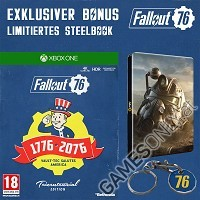 Fallout 76 [Limited Tricentennial uncut Edition] + BETA Vorabzugang + Trolley Token + Steelbook (Xbox One)