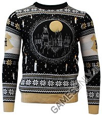 Harry Potter Hogwarts Castle Candle Lights Xmas Pullover (L) (Merchandise)