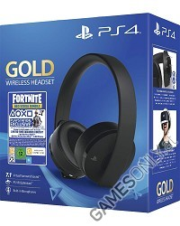 PlayStation 4 (PS4) Wireless 7.1 Headset GOLD Edition (Black) (Fortnite Neo Versa Bundle) (PS4)
