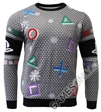 PlayStation Symbols Grey Xmas Pullover (XL) (Merchandise)