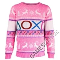 PlayStation Symbols Xmas Pullover Pink (S) (Merchandise)