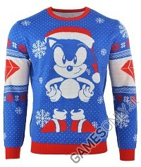 Sonic the Hedgehog Sonic Gem Xmas Pullover (M) (Merchandise)
