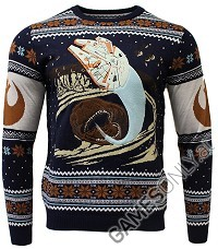 Star Wars Space Slug Escape Xmas Pullover (L) (Merchandise)