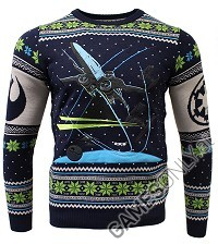 Star Wars X-Wing Battle of Yavin Xmas Pullover (L) (Merchandise)