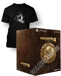 Uncharted 4: A Thiefs End [Libertalia Collectors uncut Edition] + Artwork T-Shirt (PS4)