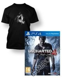 Uncharted 4: A Thiefs End [uncut Bonus Edition] + Artwork T-Shirt (PS4)