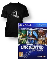 Uncharted: The Nathan Drake Collection 1-3 [AT PEGI uncut Edition] + Artwork T-Shirt (PS4)
