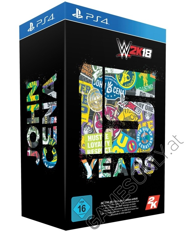 ps4 wwe 2k18 cena nuff collectors at edition. Black Bedroom Furniture Sets. Home Design Ideas