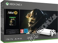 Xbox One X 1TB Konsole Robot White Special Edition Fallout 76 Bundle (Xbox One)