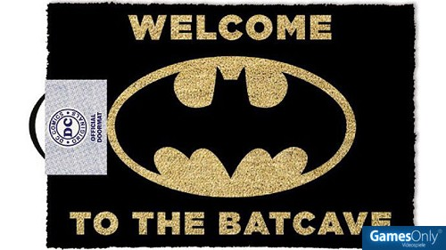 DC Comics Welcome To The Bat Cave Fußmatte Merchandise