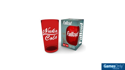 Fallout Nuka Cola Rot Glas Merchandise