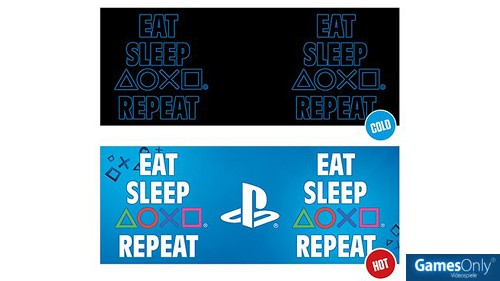 Sony PlayStation Eat Sleep Repeat Tasse Merchandise