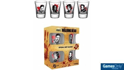 Merchandise The Walking Dead Charaktere Schnapsgläser Set 4 Stück