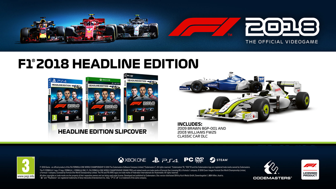 ps4 f1 formula 1 2018 headline edition. Black Bedroom Furniture Sets. Home Design Ideas